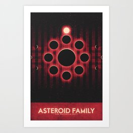 The Asteroid Belt - Asteroid Family Art Print