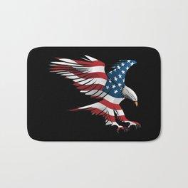 Patriotic Flying American Flag Eagle Bath Mat