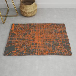 Indianapolis map orange Rug