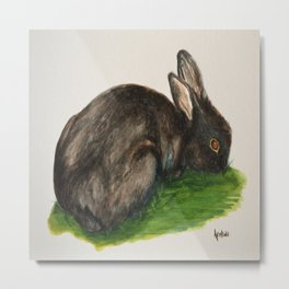 black rabbit Metal Print
