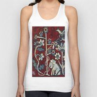 forrest Tank Tops featuring Red Forrest by Dawna Kinne Magliacano