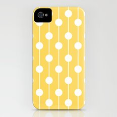 Yellow Lined Polka Dot iPhone (4, 4s) Slim Case