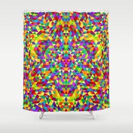 Happy triangle mandala 2 Shower Curtain