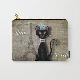 Le Chat, La Reine - The Cat, The Queen Carry-All Pouch