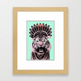 Aztec Tiger Framed Art Print