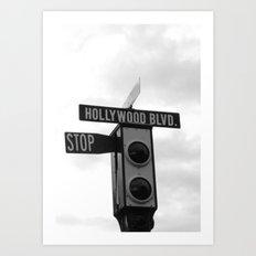 Hollywood Blvd Art Print