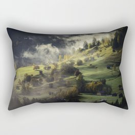 Mountain village Rectangular Pillow