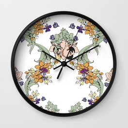 garden lace Wall Clock