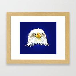 bald eagle pop illustration Framed Art Print