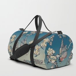 Bullfinch and French Bulldog Cherry Duffle Bag