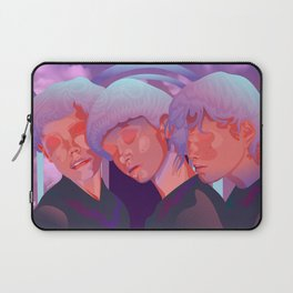Reverie // Daydream: Three girls with closed eyes, purple, lila, pink color palette Laptop Sleeve