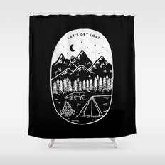 Let's Get Lost III Shower Curtain