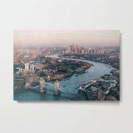 London Tower Bridge Cityscape (Color) Metal Print