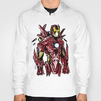 ironman Hoodies featuring Ironman by Dragon_xD