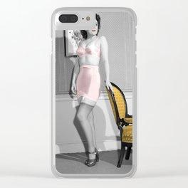 Girdle Girl Clear iPhone Case
