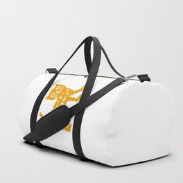 Orange cat illustration, cat pattern Duffle Bag