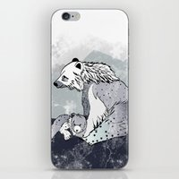nordic iPhone & iPod Skins featuring Nordic Bears by Pencil Studio