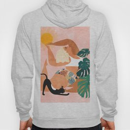 Tropical Yoga #illustration #tropical Hoody
