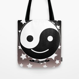 Emotional Balance // Yin Yang Smiley Face //Smilie Tote Bag