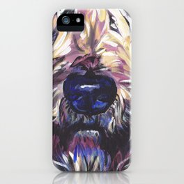 Wheaten Terrier Fun Dog Portrait bright colorful Pop Art Painting by LEA iPhone Case