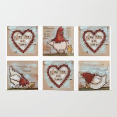 You Are So Loved Chickens - by Diane Duda Rug