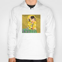 gustav klimt Hoodies featuring The Kiss (Lovers) by Gustav Klimt  by Alapapaju