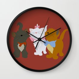 Aristocats - Red Wall Clock
