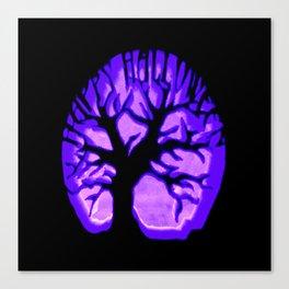 Happy HaLLoWeen. Brain Tree : Purple Canvas Print