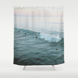 lets surf v Shower Curtain