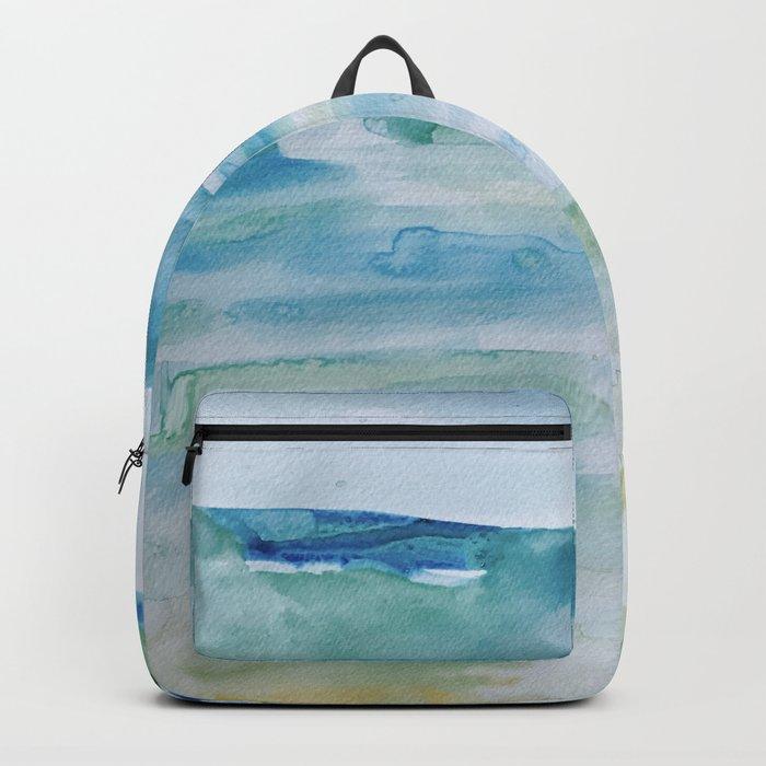 Miami Beach Watercolor #1 Backpack