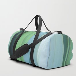 blue and green leaves Duffle Bag