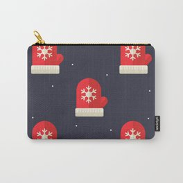 Red Christmas Gloves Pattern Carry-All Pouch