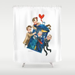 Doctor Who Hug Shower Curtain
