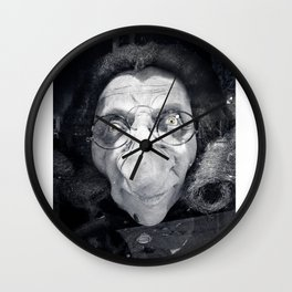 The dark ugly witch Wall Clock