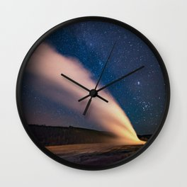 Old Faithful & New Moon Wall Clock