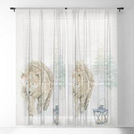 Christmas Morning 7 Sheer Curtain