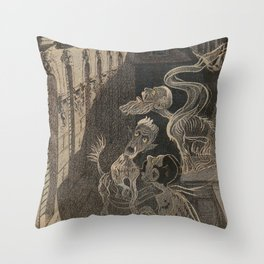 ghostly apparitions Throw Pillow