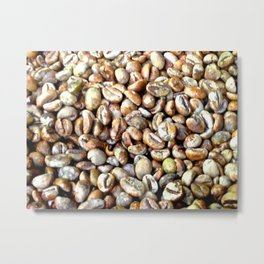 Raw Balinese Coffee Metal Print