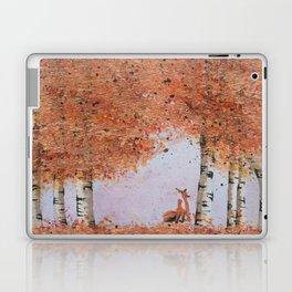 Autumn Birch Fox Laptop & iPad Skin