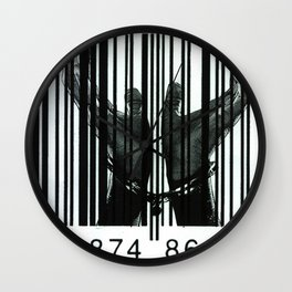 Chained By Capitalism Wall Clock