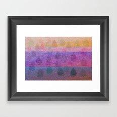 Pink Leaves Framed Art Print