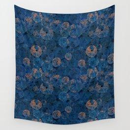 Ocean life in deep blue Wall Tapestry