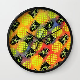 Pineapple 02 Wall Clock