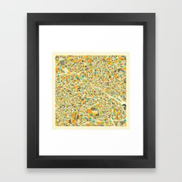 Berlin Map Framed Art Print