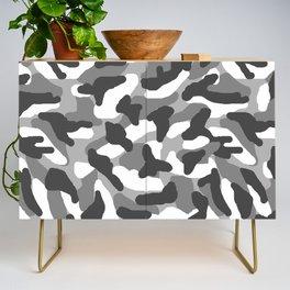 Grey Gray Camo Camouflage Credenza
