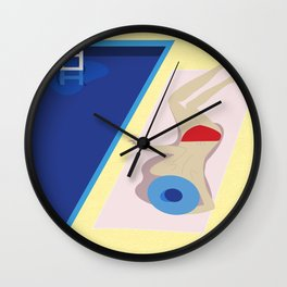 Summer days by the pool Wall Clock