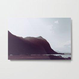 Sunlit Mountains - Waimanalo, Hawaii Metal Print