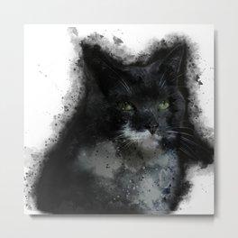 Not Amused Cat Metal Print