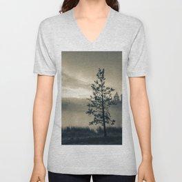 Pine Trees 3 Unisex V-Neck
