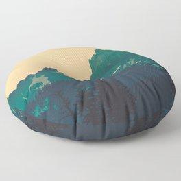 Cascade Mountains Sunset Floor Pillow
